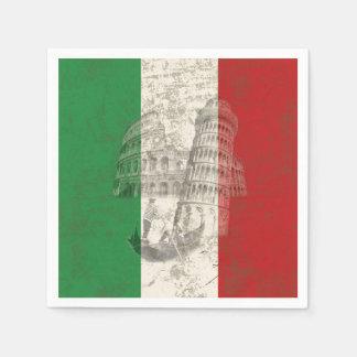 Vlag en Symbolen van Italië ID157 Wegwerp Servet