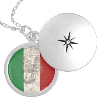 Vlag en Symbolen van Italië ID157 Zilver Vergulden Ketting