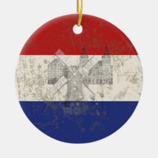 Vlag en Symbolen van Nederland ID151 Rond Keramisch Ornament