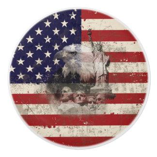 Vlag en Symbolen van Verenigde Staten ID155 Keramische Knop