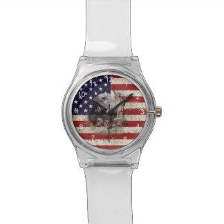 Vlag en Symbolen van Verenigde Staten ID155 Polshorloge