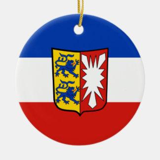 Vlag - Fahne - Flagge - Duitsland Rond Keramisch Ornament