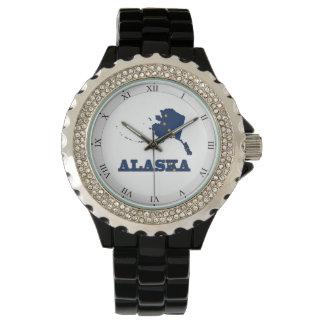 Vlag in Kaart van Alaska Horloge