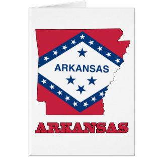 Vlag in Kaart van Arkansas