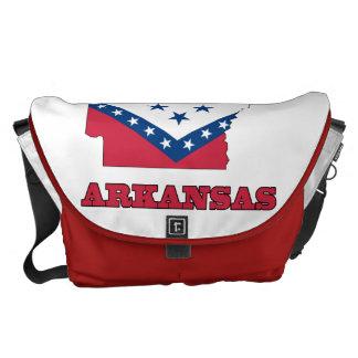 Vlag in Kaart van Arkansas Messenger Bags