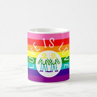 Vlag LGBT van de Regenboog van de Trots van de Koffiemok