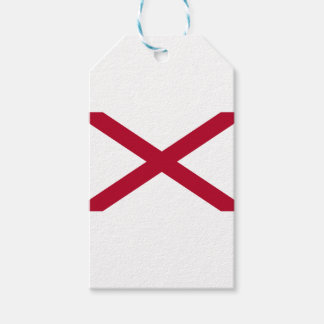 Vlag van Alabama Cadeaulabel