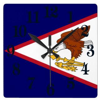 Vlag van Amerikaans Samoa Vierkante Klok