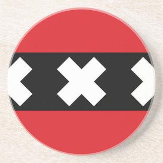 Vlag van Amsterdam Zandsteen Onderzetter