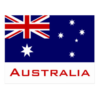 Vlag van Australië Briefkaart
