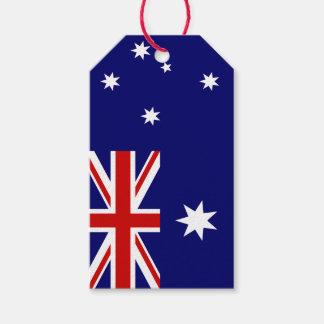 Vlag van Australië Cadeaulabel