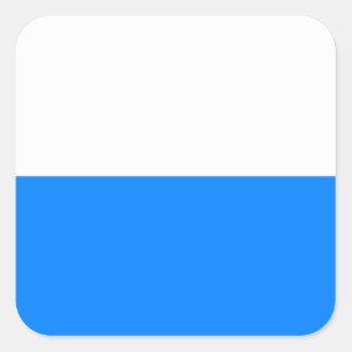 Vlag van Beieren Vierkante Sticker