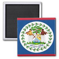 Vlag van Belize Vierkante Magneet