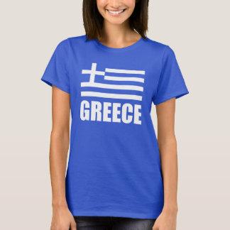Vlag van Blauw van de Tekst van Griekenland het T Shirt