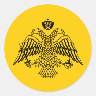 Vlag van Byzantium Ronde Sticker