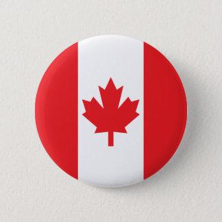 Vlag van Canada Ronde Button 5,7 Cm