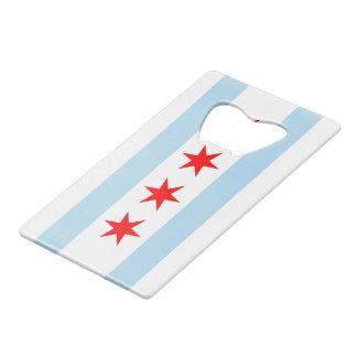 Vlag van Chicago Creditkaart Flessenopener
