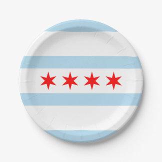 Vlag van Chicago, Illinois Papieren Bordje