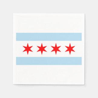 Vlag van Chicago, Illinois Wegwerp Servetten