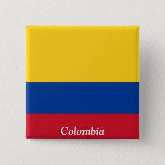 Vlag van Colombia Vierkante Button 5,1 Cm