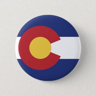 Vlag van Colorado Ronde Button 5,7 Cm