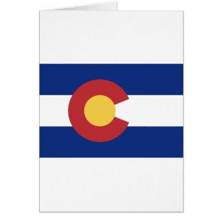 Vlag van Colorado Wenskaart