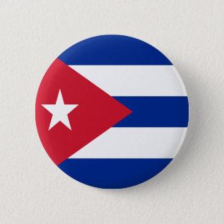 Vlag van Cuba Ronde Button 5,7 Cm