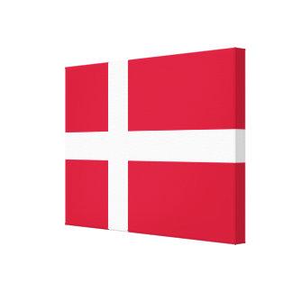 Vlag van de Deense Doek van Denemarken of Canvas Print