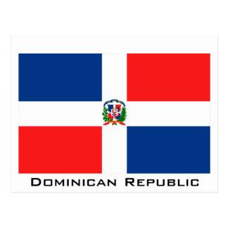 Vlag van de Dominicaanse Republiek Briefkaart