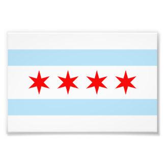 Vlag van de Druk van de Foto van Chicago