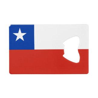 Vlag van de Flesopener van de Creditcard van Chili Creditkaart Flessenopener