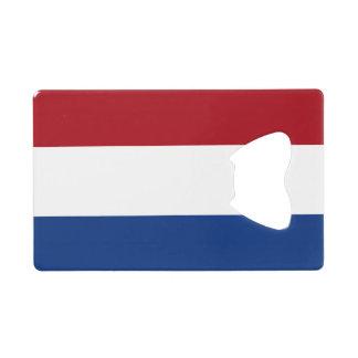 Vlag van de Flesopener van de Creditcard van Creditkaart Flessenopener