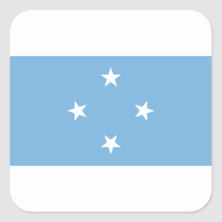Vlag van de Gefederaliseerde Staten van Micronesië Vierkant Stickers