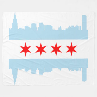 Vlag van de Horizon van Chicago Fleece Deken