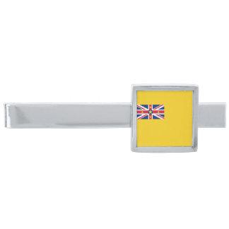 Vlag van de Klem van het Stropdas Niue Verzilverde Dasspeld