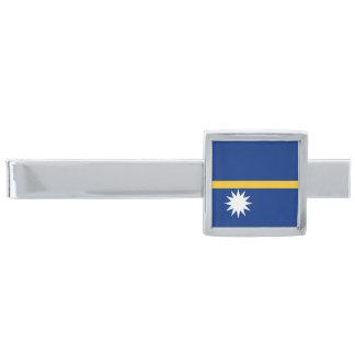 Vlag van de Klem van het Stropdas van Nauru Verzilverde Dasspeld