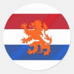 Vlag van de leeuwNederland van Nederland de Ronde Sticker
