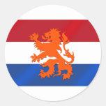 Vlag van de leeuwNederland van Nederland de Ronde Stickers