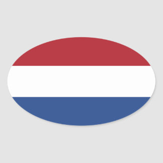 Vlag van de Ovale Sticker van Nederland