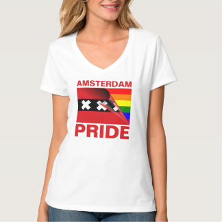 Vlag van de Regenboog van de Trots van Amsterdam Shirts