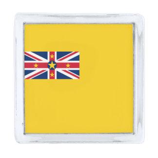 Vlag van de Speld van de Revers Niue Verzilverde Reverspeld