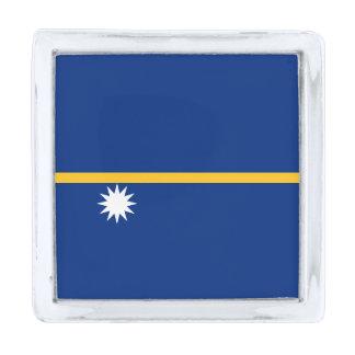 Vlag van de Speld van de Revers van Nauru Verzilverde Reverspeld