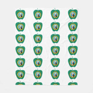 Vlag van de Staat van Apple Washington van de pret Fleece Deken