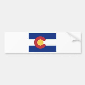 Vlag van de Staat van Colorado Bumpersticker