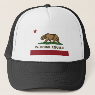 Vlag van de Staat van de Republiek van Californië Trucker Pet