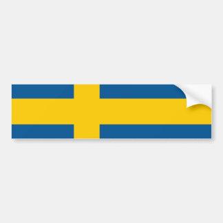 Vlag van de Sticker van de Bumper van Zweden