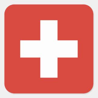 Vlag van de Sticker van Zwitserland