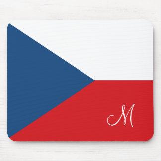 Vlag van de Tsjechische Republiek Met monogram Muismat