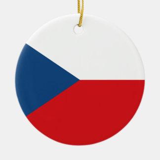 Vlag van de Tsjechische Republiek - vlajka Česká Rond Keramisch Ornament