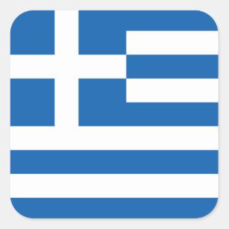 Vlag van (de Vierkante) Sticker van Griekenland